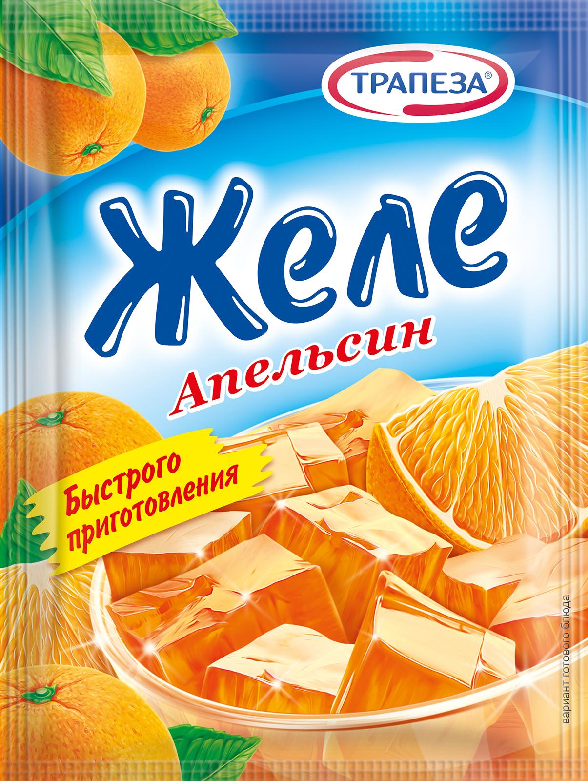 Желе апельсиновое Трапеза 75г.
