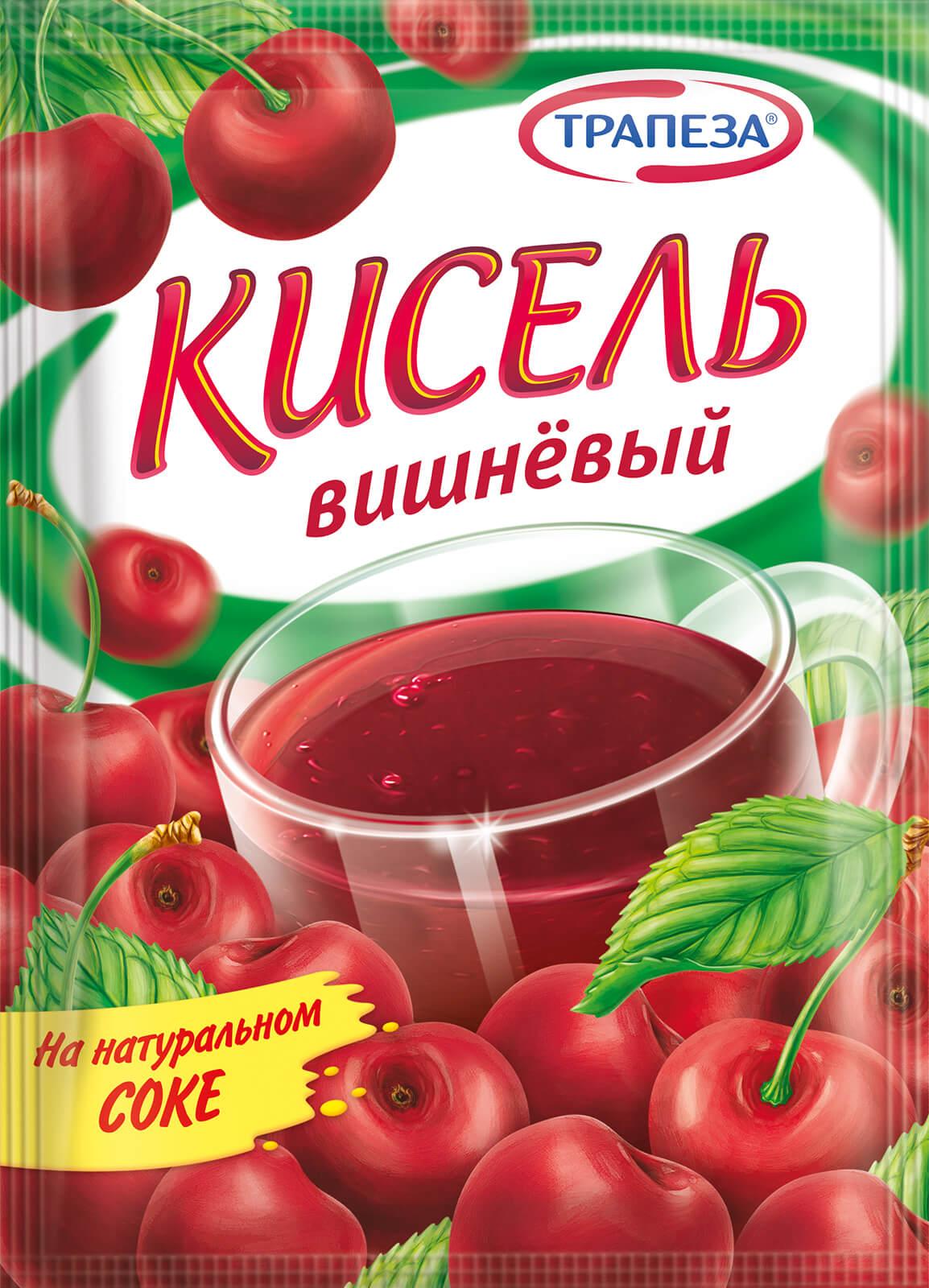 кисель вишневый Трапеза 100г.