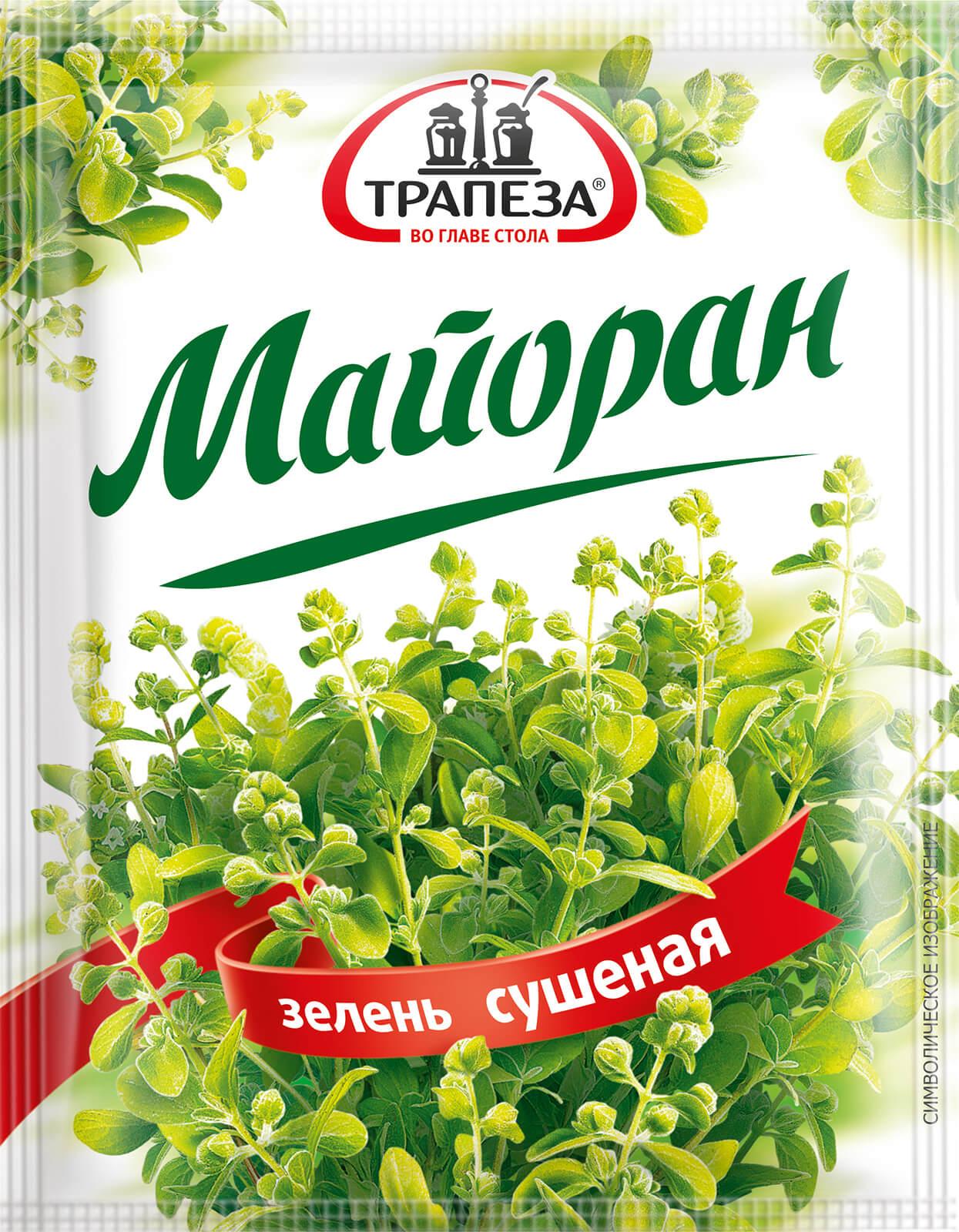 Майоран зелень сушеная Трапеза 5г.