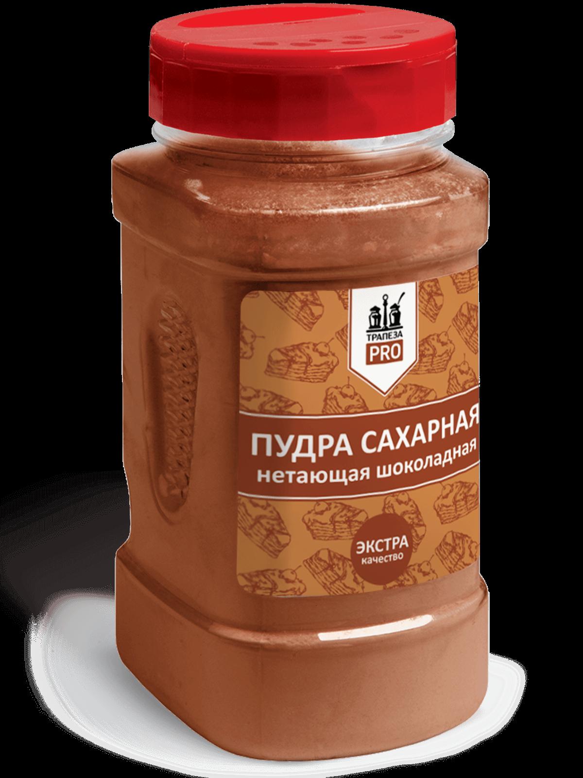 Сахарная пудра НЕТАЮЩАЯ шоколадная 400г Трапеза PRO